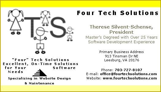 business card - web design Four Tech Solutions