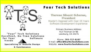 business card - Four Tech Solutions