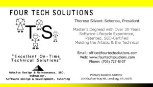 business card - Four Tech Solutions | Leesburg VA